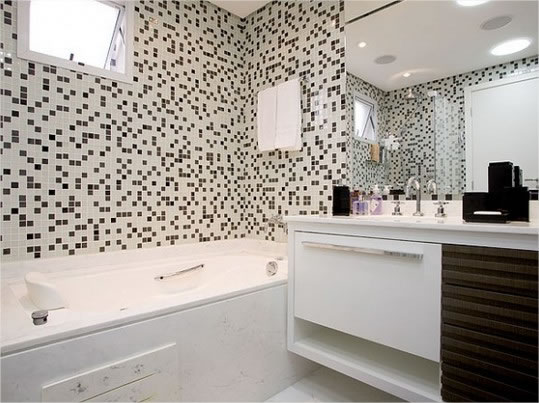 Banheiro pequeno decorado com papel contact : Importante dica para voc? aprender sobre banheiros